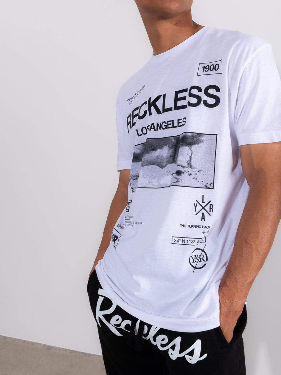 Young and Reckless Mens - Tops - Graphic Tee - Crisis Tee - White