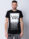 Young and Reckless Mens - Tops - Graphic Tee Crumbling Trademark Box Tee - Black
