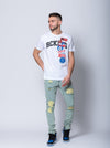 Young and Reckless Mens - Tops - Graphic Tee Descent Tee - White