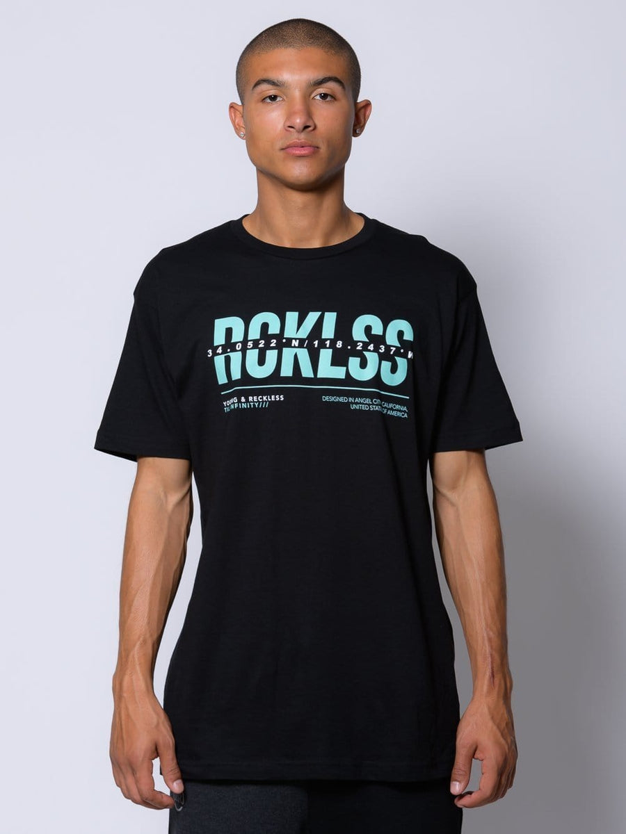 Young and Reckless Mens - Tops - Graphic Tee Dissect Tee - Black