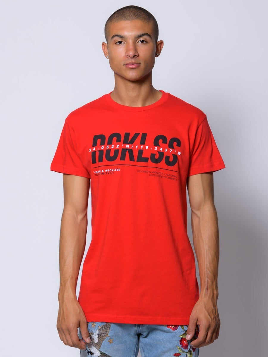 Young and Reckless Mens - Dissect Tee - Red