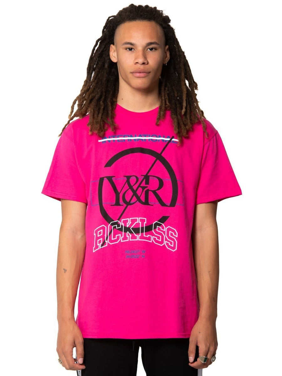 f086c00f6c331 Young and Reckless Mens - Tops - Graphic Tee Distinct Tee - Hot Pink S