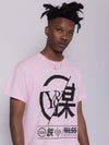 Young and Reckless Mens - Tops - Graphic Tee Foreign Exchange Tee - Pastel Pink