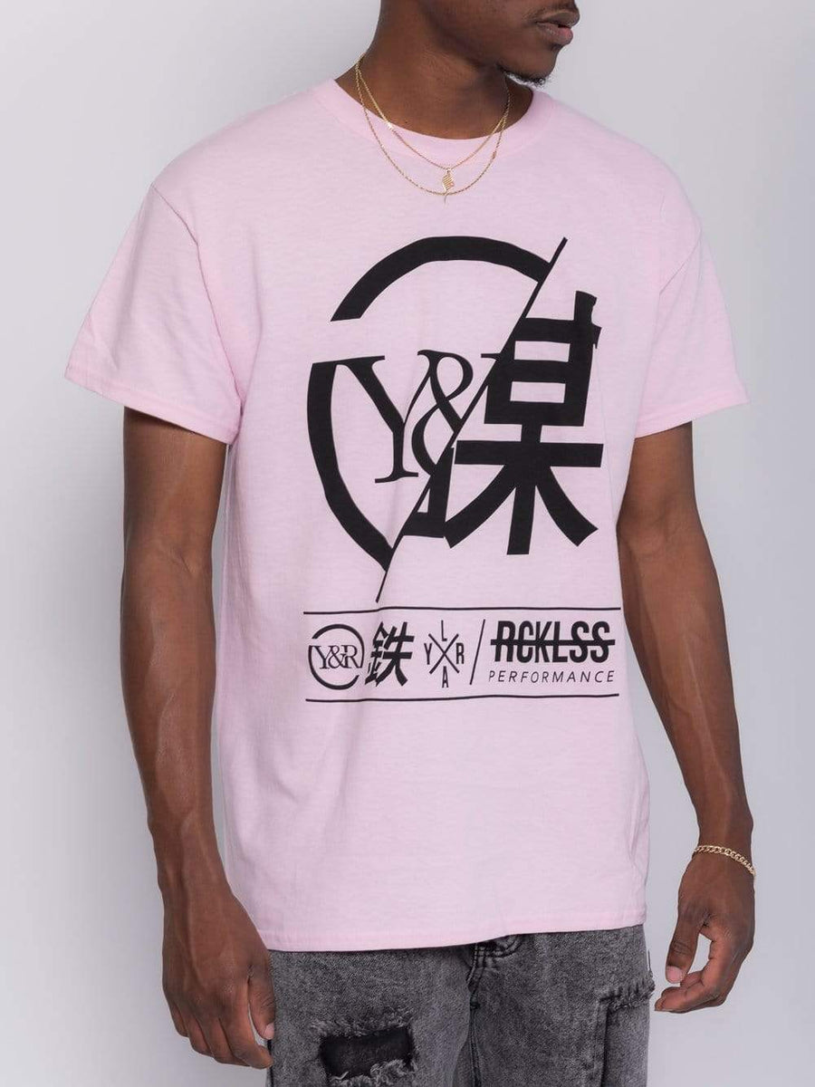 Foreign Exchange Tee - Pastel Pink