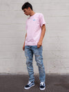 Young and Reckless Mens - Tops - Graphic Tee Full Sig Tee - Pink