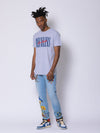 Young and Reckless Mens - Tops - Graphic Tee LA Vintage Tee - Heather Grey