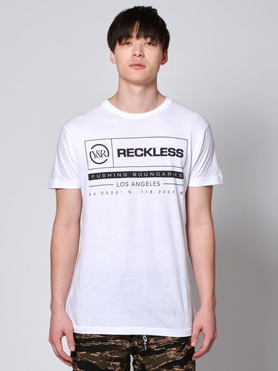 Young and Reckless Mens - Tops - Graphic Tee - Latitude Tee - White