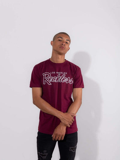 Young and Reckless Mens - Tops - Graphic Tee OG Reckless Tee - Burgundy
