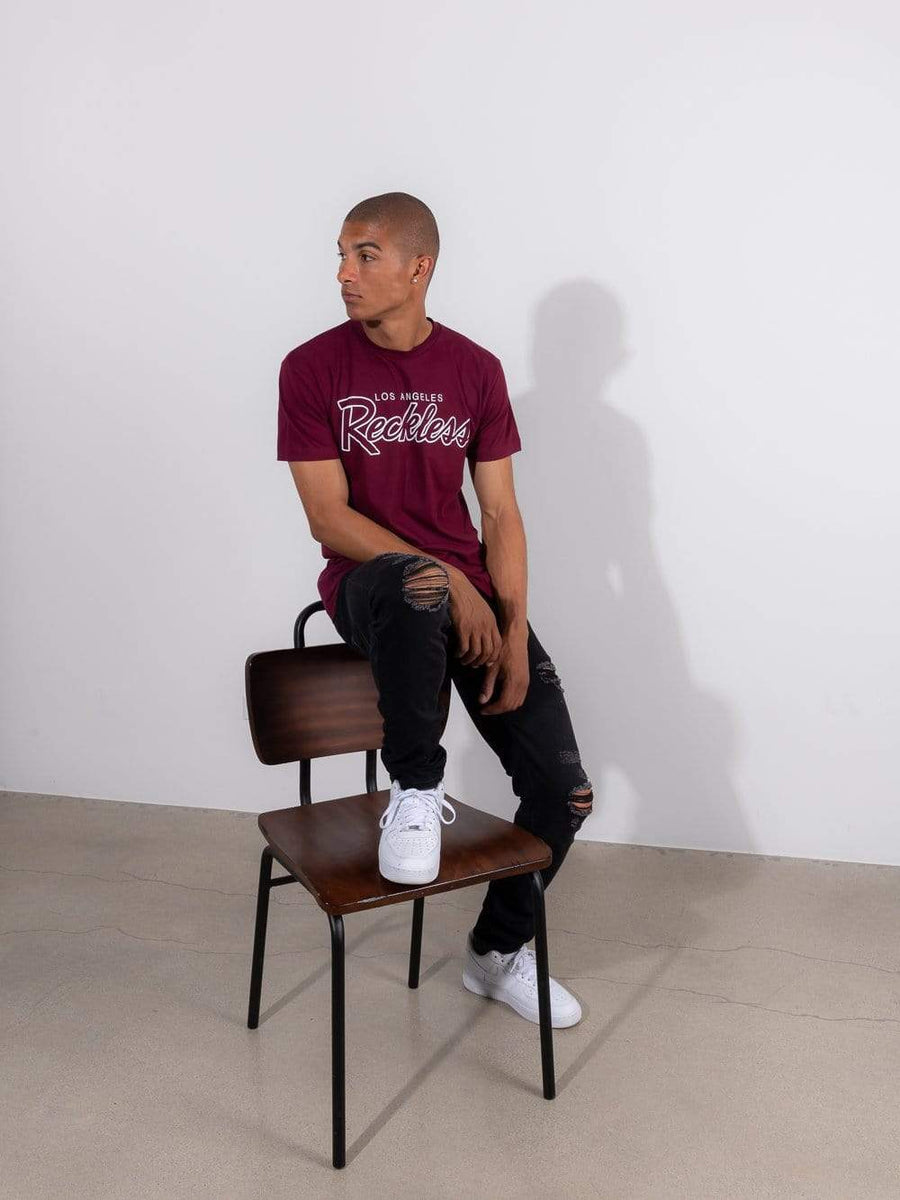 OG Reckless Tee - Burgundy
