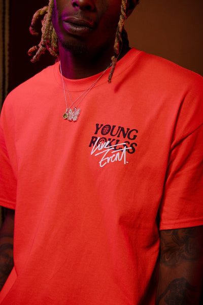 Young and Reckless Mens - Tops - Graphic Tee Pandemonium Tee - Orange