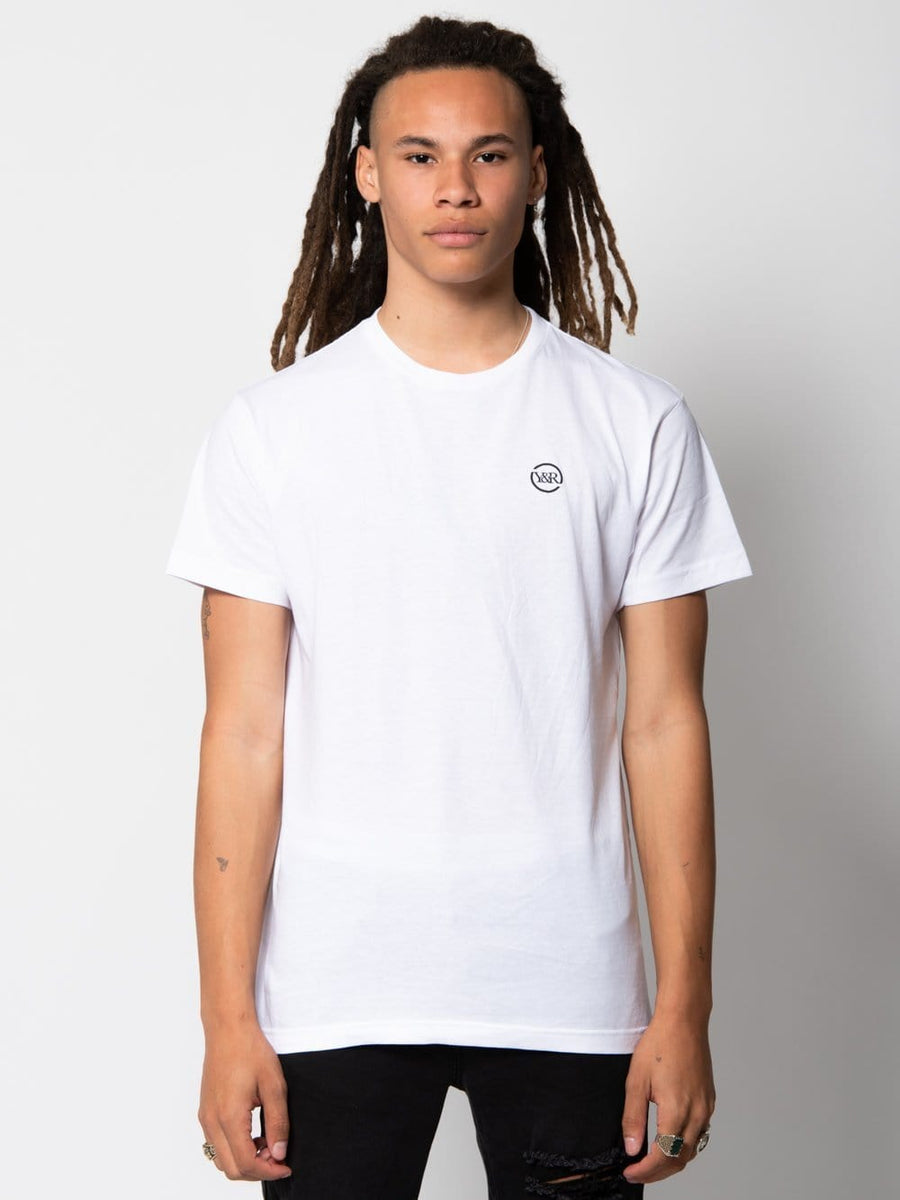 Racer Tee - White/Black