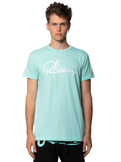 Young and Reckless Mens - Tops - Graphic Tee Signature Tee - Celadon