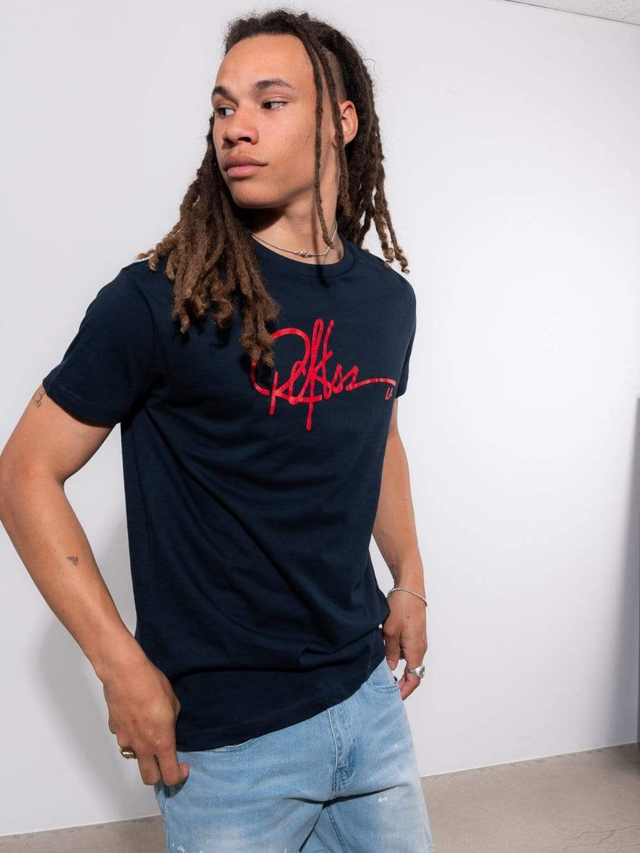 Young and Reckless Mens - Tops - Graphic Tee - Signature Tee - Navy