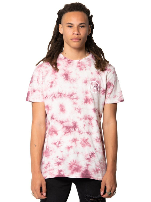 Statement Tee Mauve Tie Dye Young Amp Reckless