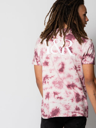 Young and Reckless Mens - Tops - Graphic Tee Statement Tee - Mauve Tie Dye S / MAUVE TIE DYE