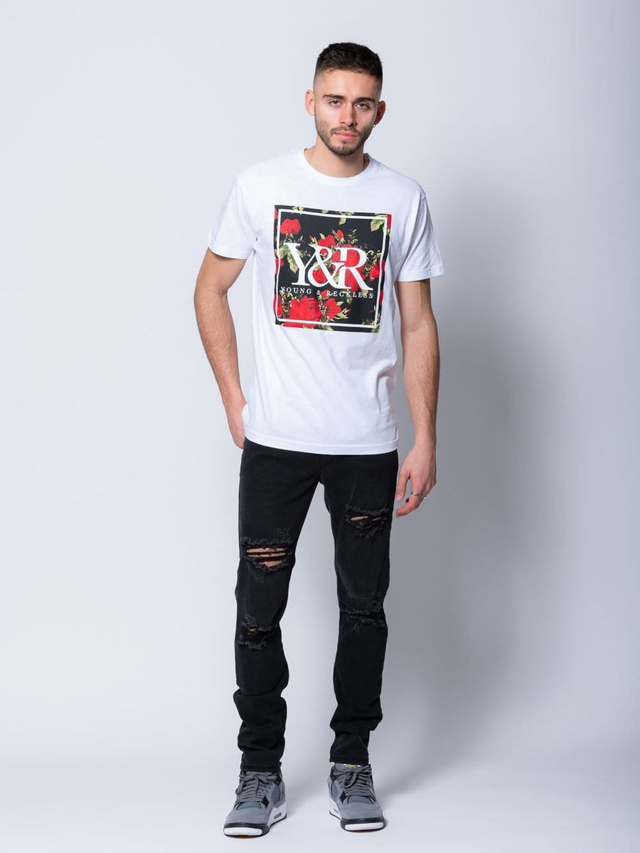 Young and Reckless Mens - Tops - Graphic Tee - Verdant Tee - White