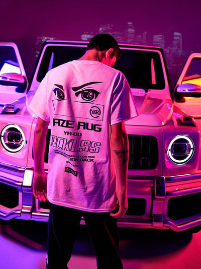 Young and Reckless Mens - Tops - Graphic Tee Y&R x FaZe Rug RGB Tee - White