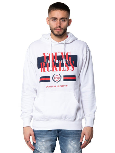 Young and Reckless Mens - Tops - Hoodies Angler Hoodie - White S / WHITE