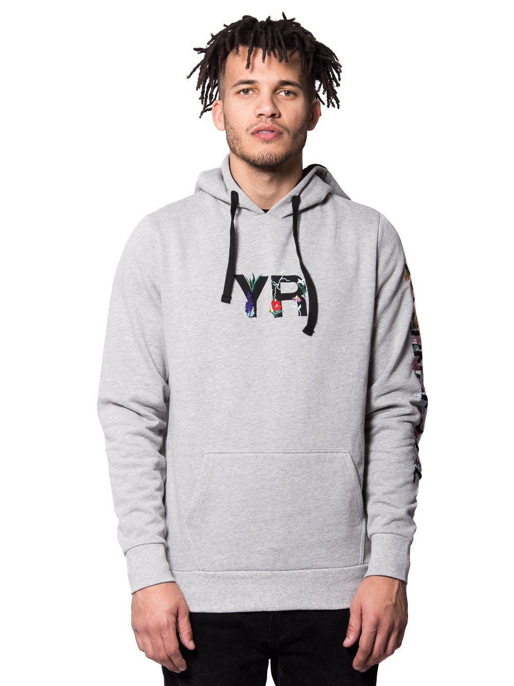 Young and Reckless Mens - Tops - Hoodies Botanic Hoodie - Heather Grey