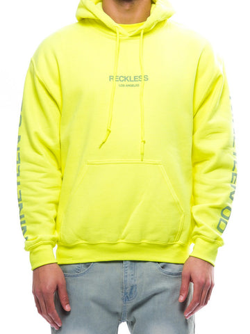 Young and Reckless Mens - Tops - Hoodies Bravo Hoodie- Safety Green