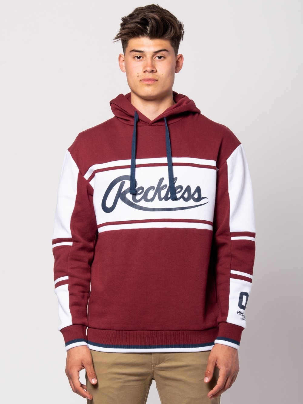 Young and Reckless Mens - Tops - Hoodies Brody Hoodie - Burgundy