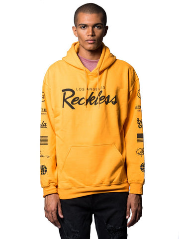 Young and Reckless Mens - Tops - Hoodies Circuit Hoodie- Yellow