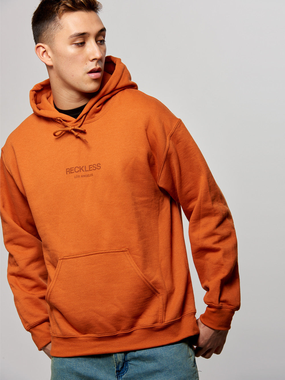 Young and Reckless Mens - Tops - Hoodies Classic Hoodie- Orange