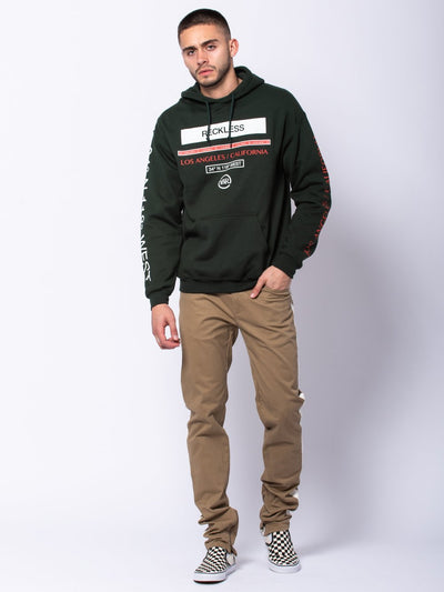 Young and Reckless Mens - Tops - Hoodies Classy Hoodie - Forest Green