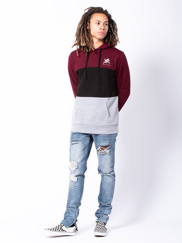 Compound Hoodie - Burgundy/Grey