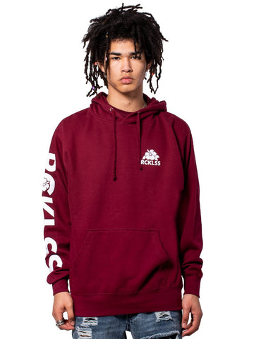 Young and Reckless Mens - Tops - Hoodies Core Lush Hoodie - Burgundy