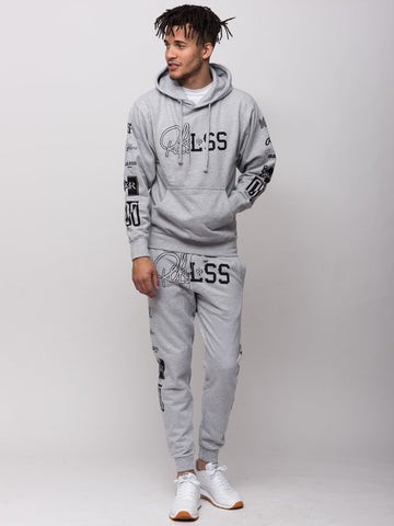 Derailed Hoodie - Heather Grey