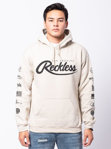 Young and Reckless Mens - Tops - Hoodies District Hoodie - Sand
