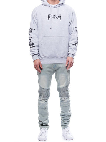Downfall Hoodie- Heather Grey