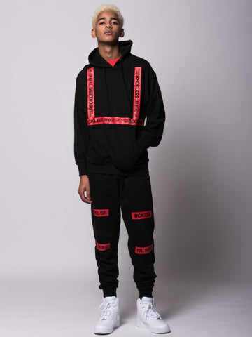 Dual Threat Hoodie - Black/Red