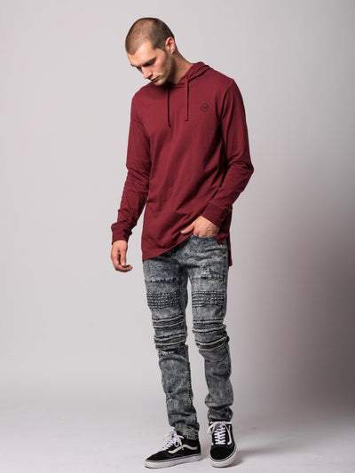 Young and Reckless Mens - Tops - Hoodies Faction Hoodie- Burgundy