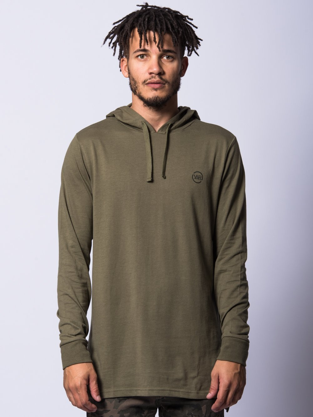 Young and Reckless Mens - Tops - Hoodies Faction Hoodie- Olive