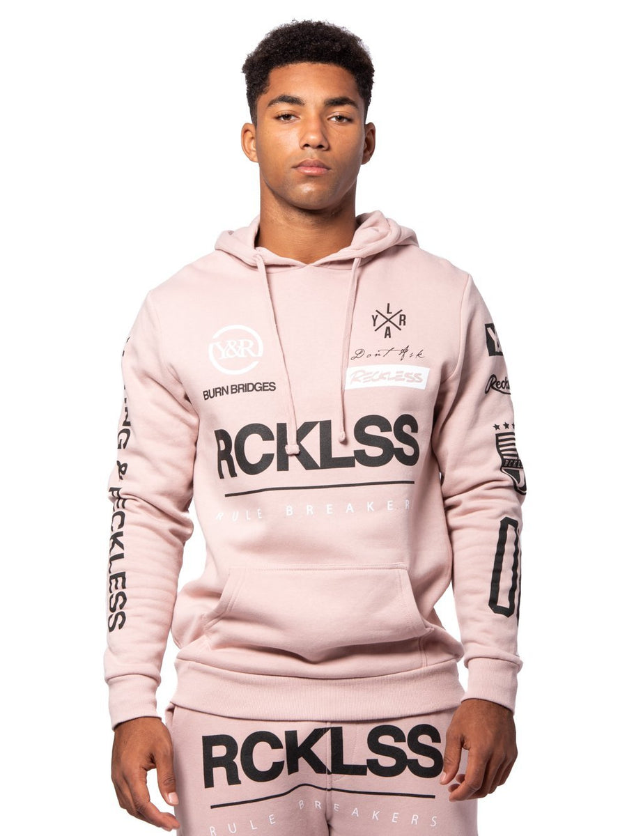 75785879eaea Young and Reckless Mens - Tops - Hoodies Fast Track Hoodie - Rose