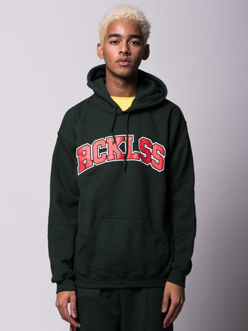 Young and Reckless Mens - Tops - Hoodies Florence Hoodie - Forest Green