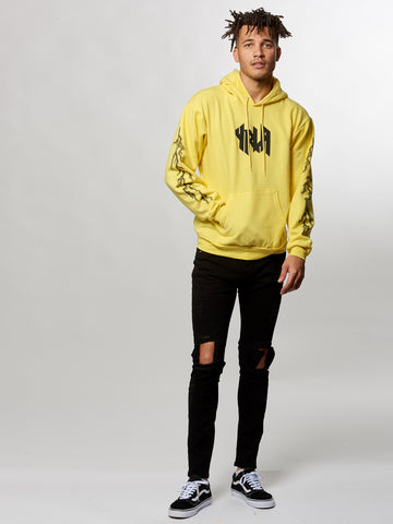 Young and Reckless Mens - Tops - Hoodies Grimoire Hoodie- Yellow