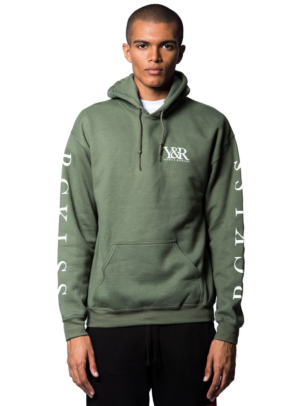 Young and Reckless Mens - Tops - Hoodies Guerilla Hoodie - Olive