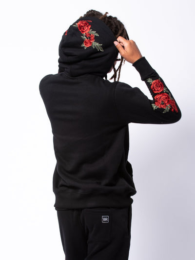 Young and Reckless Mens - Tops - Hoodies Halve Vista Hoodie - Black/Red