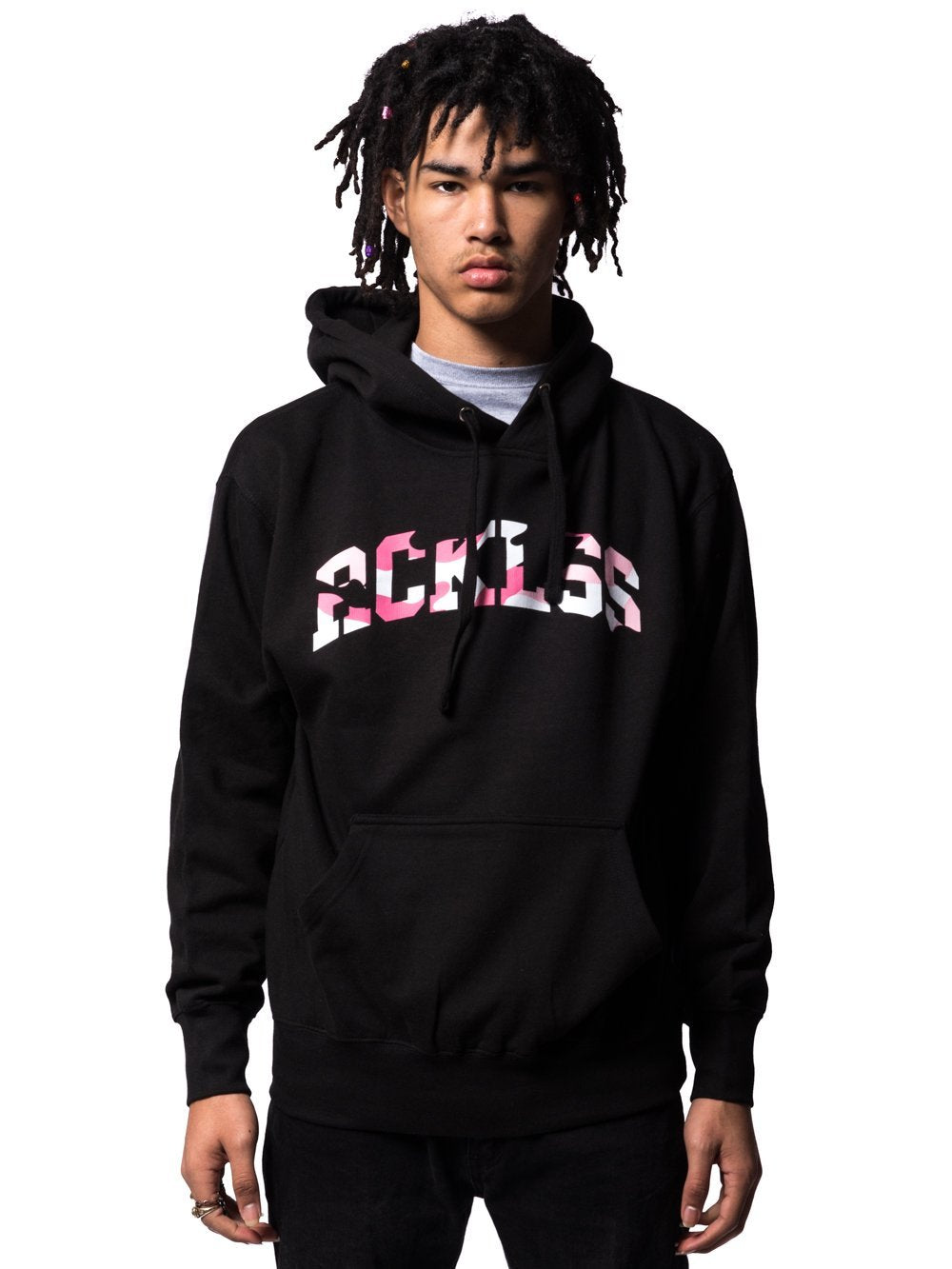 Young and Reckless Mens - Tops - Hoodies Homecoming Camo Hoodie - Black