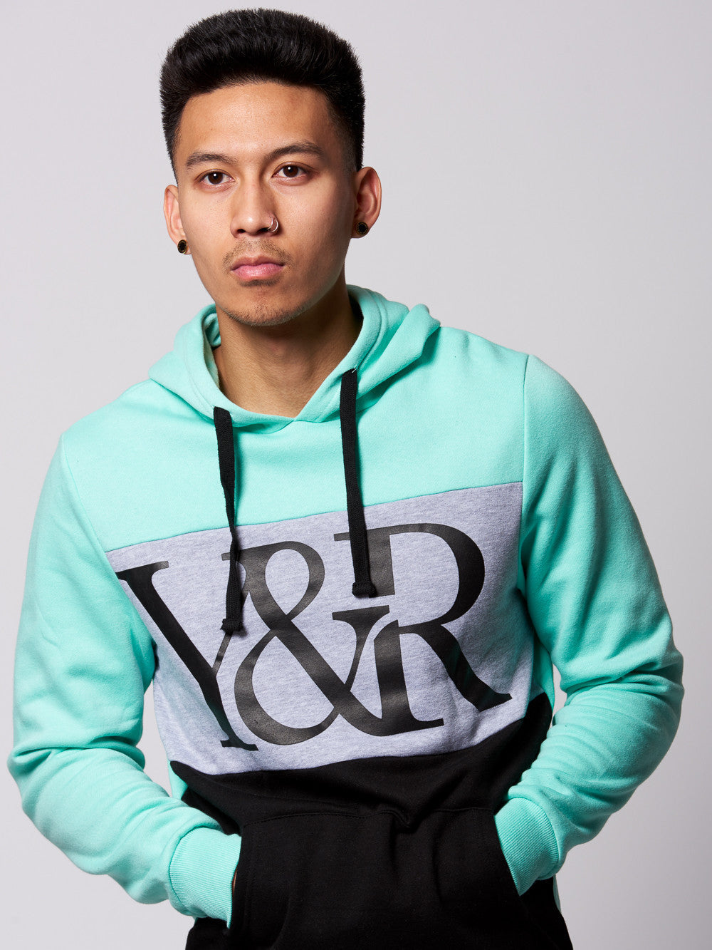 Young and Reckless Mens - Tops - Hoodies Hybrid Hoodie- Ice/Heather