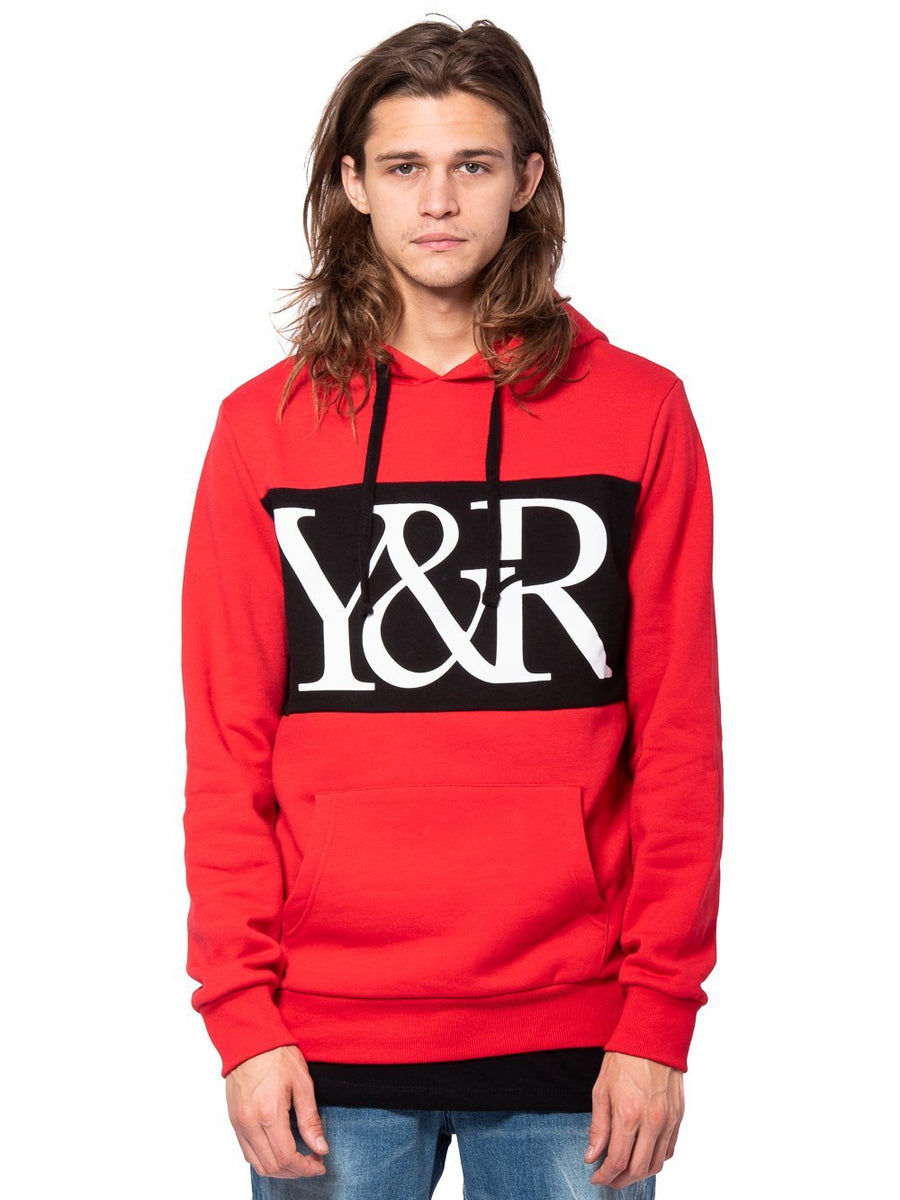 019e88b3 Young and Reckless Mens - Tops - Hoodies Hybrid Hoodie - Red