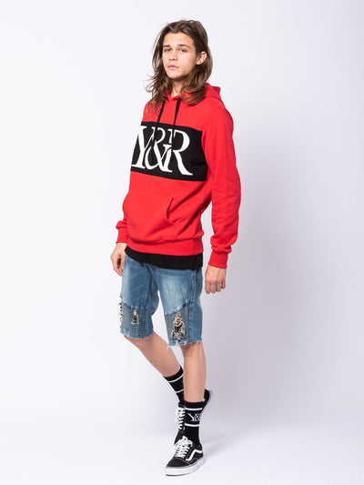 Young and Reckless Mens - Tops - Hoodies Hybrid Hoodie - Red