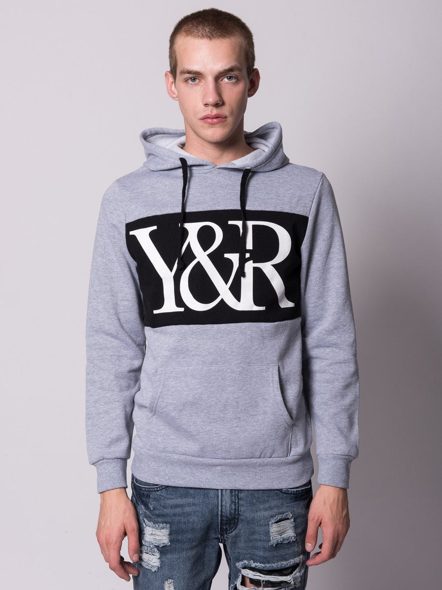Young and Reckless Mens - Tops - Hoodies Hybrid Pullover Hoodie- Heather Grey