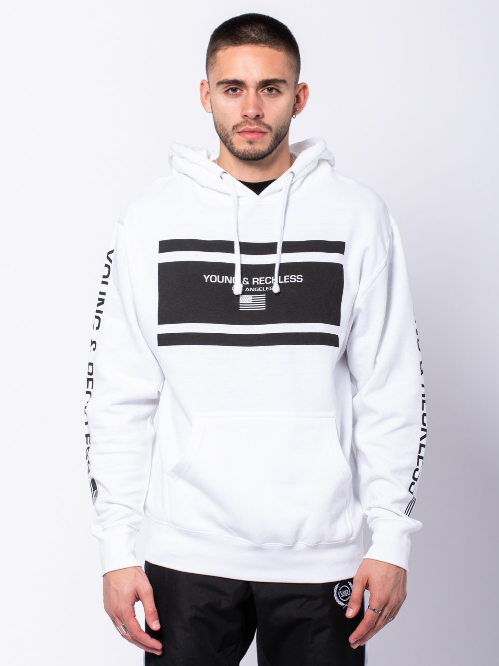 Young and Reckless Mens - Tops - Hoodies Incorporated Hoodie - White