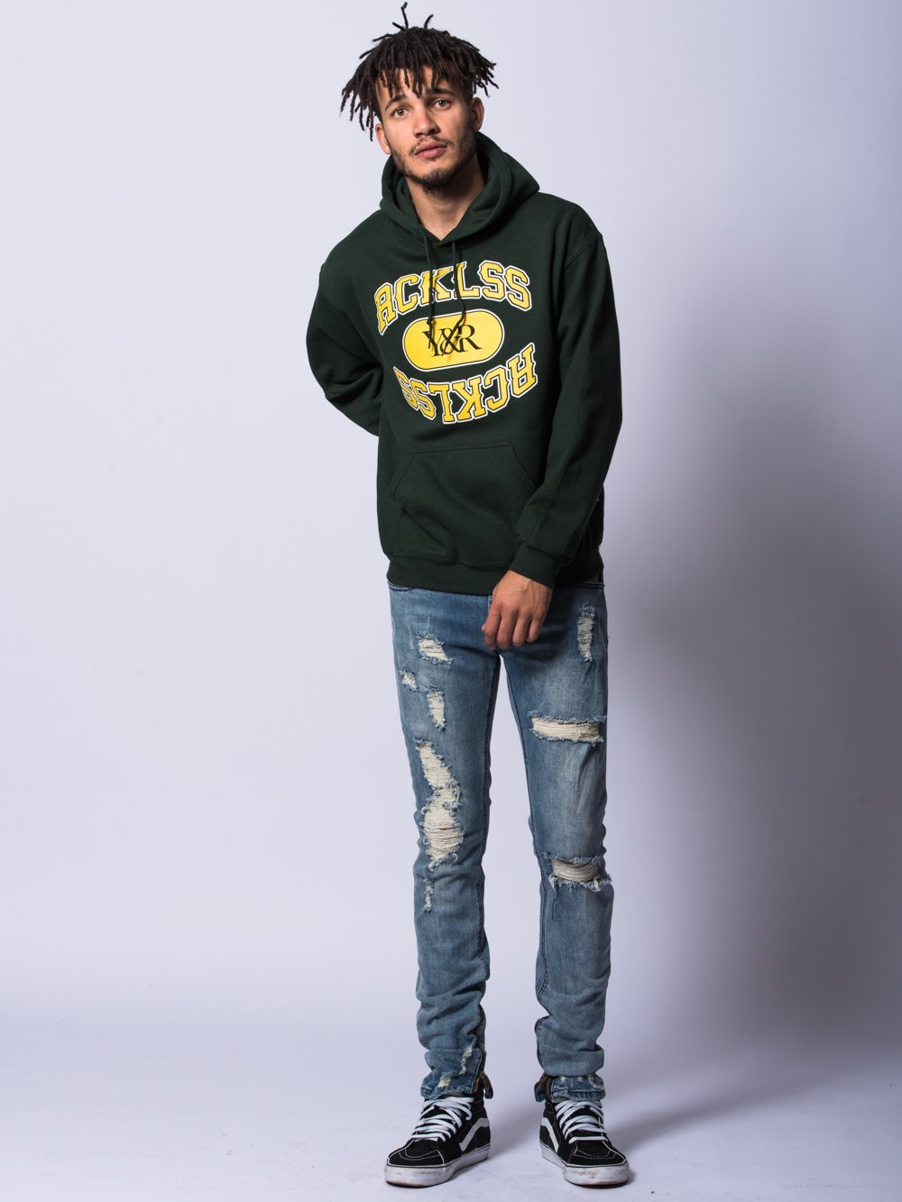Young and Reckless Mens - Tops - Hoodies Ivy Hoodie- Green