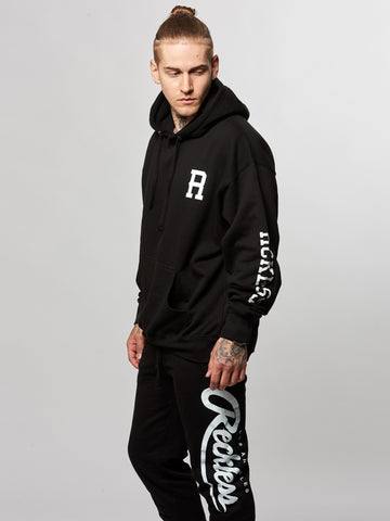 Young and Reckless Mens - Tops - Hoodies Lane Change Hoodie- Black