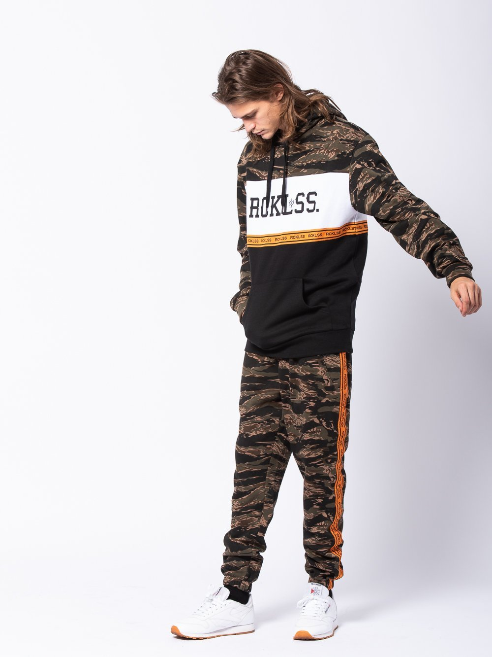 Young and Reckless Mens - Tops - Hoodies Lane Change Streamline Hoodie - Camo Green